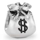 Bracelet charm money bag